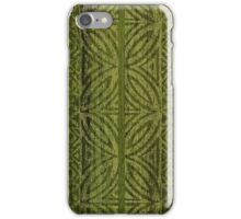 Samoan Tapa Olive Faux Koa Wood Hawaiian Surfboard  iPhone Case/Skin