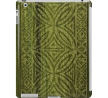 Samoan Tapa Olive Faux Koa Wood Hawaiian Surfboard  iPad Case/Skin