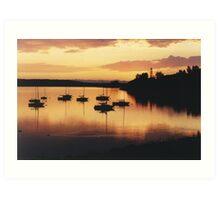 Sunset sails Art Print