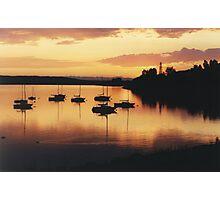Sunset sails Photographic Print