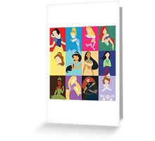 Disney Princesses! Greeting Card