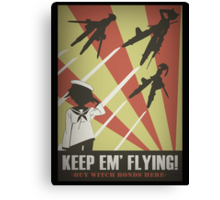 Strikers: Keep Em' Flying Canvas Print