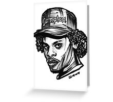 Eazy Side E Profile Greeting Card