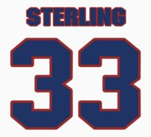 National football player John Sterling jersey 33 by imsport