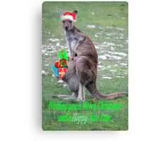Merry Christmas and a 'Hoppy' New Year Canvas Print