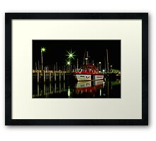"""Harbourside Reflections"" Framed Print"