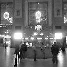 Ghosts in Grand Central BW by Bernadette Claffey