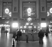 Ghosts in Grand Central BW by Bernadette Claffey