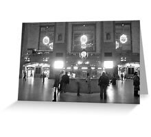 Ghosts in Grand Central BW Greeting Card