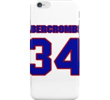 National football player Walter Abercrombie jersey 34 iPhone Case/Skin