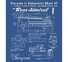 Seagrave Rear Admiral blueprint Photographic Print