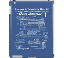 Seagrave Rear Admiral blueprint iPad Case/Skin