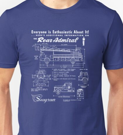 Seagrave Rear Admiral blueprint Unisex T-Shirt