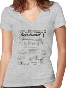 Seagrave Rear Admiral ad Women's Fitted V-Neck T-Shirt