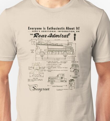 Seagrave Rear Admiral ad Unisex T-Shirt