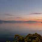 SUNSET OVER LAKE LEMAN by Marilyn Grimble