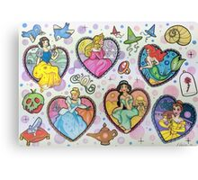 Disney Princesses :) Canvas Print