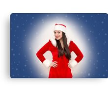 Christmas girl Canvas Print