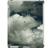 White clouds and Sea Gulls iPad Case/Skin