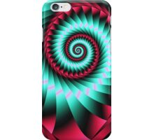 Giant Spiral in mint and pink iPhone Case/Skin