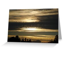 Tainted Sky at Twilight Greeting Card