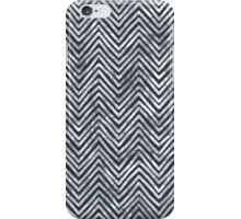 Black and White Zigzag - Chevron Chalkboard iPhone Case/Skin