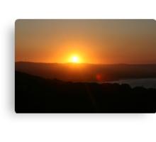 byron sunset Canvas Print