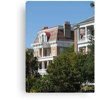 Charleston houses Canvas Print