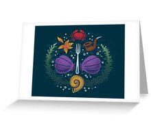 Mermaid Crest Greeting Card