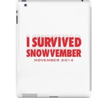 Funny 'I Survived Snowvember 2014' Winter Storm T-Shirt iPad Case/Skin