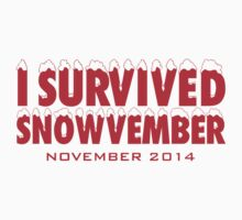 Funny 'I Survived Snowvember 2014' Winter Storm T-Shirt by Albany Retro