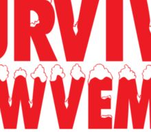 Funny 'I Survived Snowvember 2014' Winter Storm T-Shirt Sticker