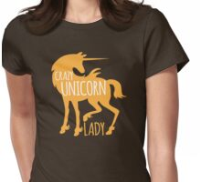 Crazy Unicorn lady Womens Fitted T-Shirt