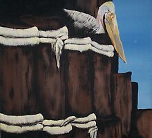 The Lone pelican by Sue Junkins