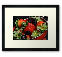 Summer Berries Framed Print