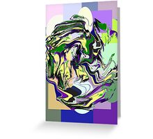 Caution: Wet Paint! abstract Greeting Card