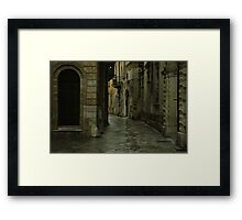 Streetscape in Baroque ! Framed Print