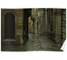 Streetscape in Baroque ! Poster