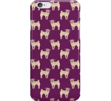 Pug dogs cute repeating pattern iPhone Case/Skin