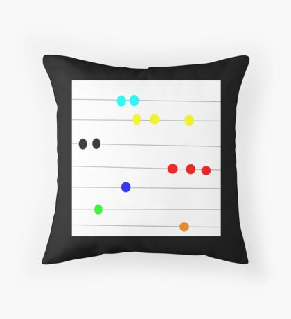 BEAD PRIMARY COLOR, abstract art image Throw Pillow