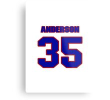 National football player Neal Anderson jersey 35 Metal Print