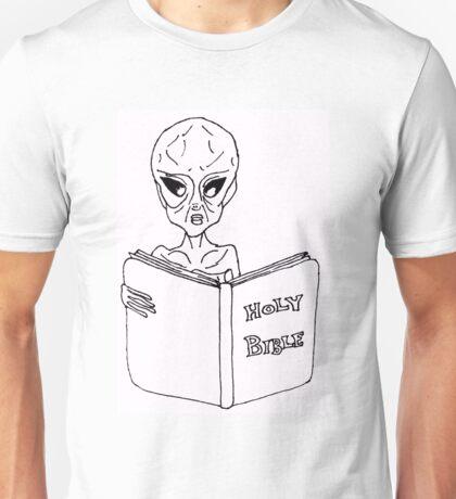 Alien Reading Bible Unisex T-Shirt