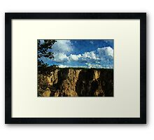 Beautiful Yellowstone landscape photography Framed Print