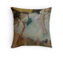 After Degas/ before the exam Throw Pillow