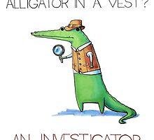 Alligator the Investigator by gekep