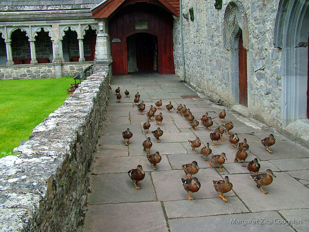 The Flock leaving Holycross Abbey by Margaret Zita Coughlan