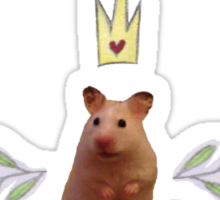 Princess Hamster Banner Mouse Sticker