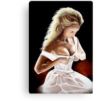 Undressing by Moonlight Canvas Print