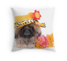 Flower Power Dog Throw Pillow