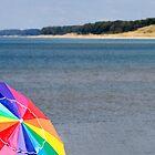 Beach with Umbrella by JKunnen